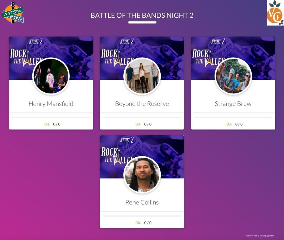 VOTING STARTS AT 5! Make sure to go to  and vote for your favorite Artists!  #HenryMansfield #BeyondTheReserve #StrangeBrew #ReneCollins  #music #concert #LosAngeles #OnlineConcert #artists #nonprofit #LiveBand #NewMusic #EmergingArtist #BattleOfTheBands