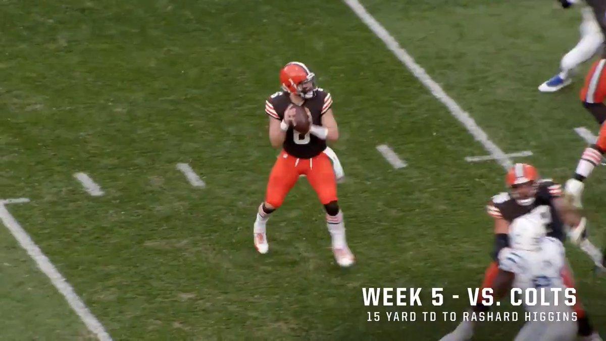 Baker the touchdown maker 😏  @bakermayfield
