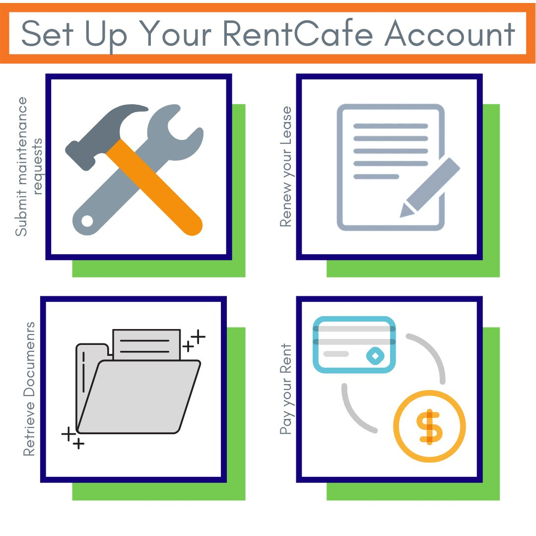 Did you know, with Rent Cafe you can.... #Rentcafe #residents #hunterproperties #lovewhereyoulive #thereISaplacelikehome