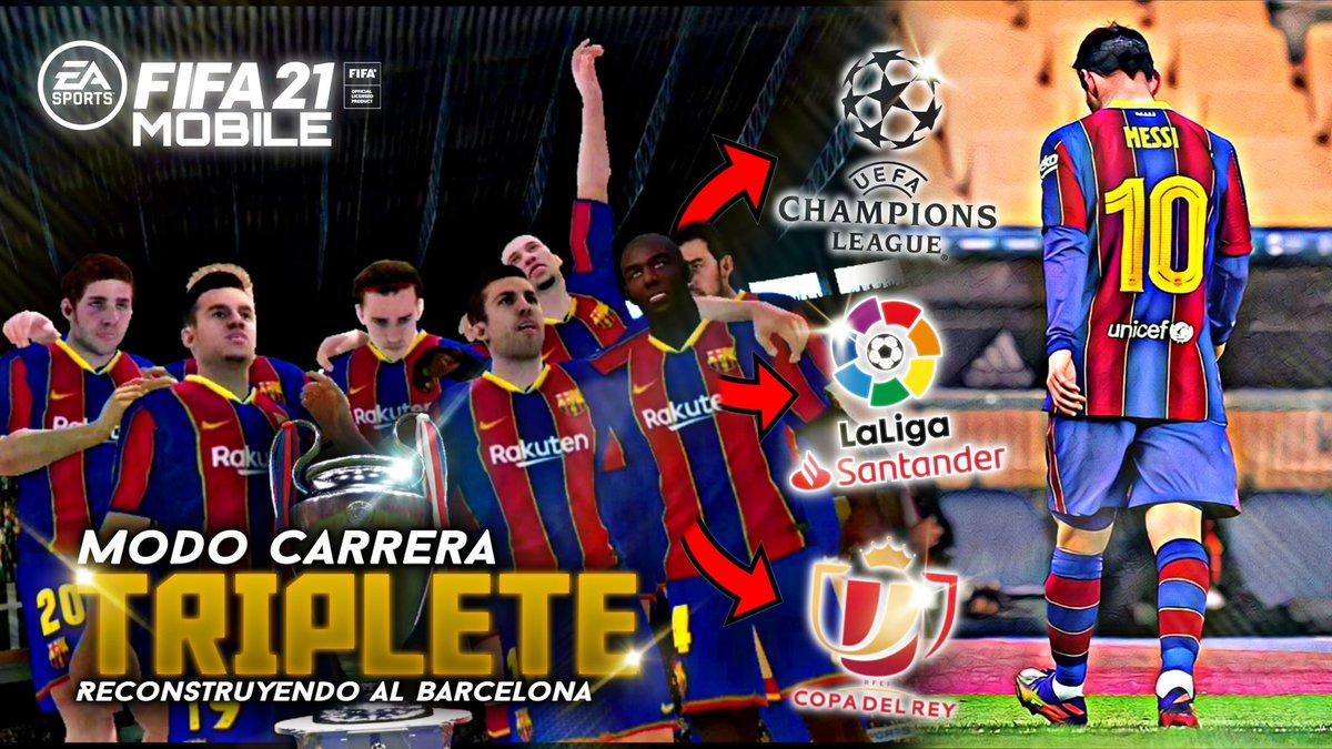 BARCELONA CAMPEÓN Y SIN MESSI 😱 ⚽ LINK DEL VIDEO ⬇️ ⬇️ ⬇️   #Barcelona #BarcelonaAthletic #FIFA21 #Fifa21Mobile #fifamobile21 #modocarrera #careermode #SupercopaBarca #barcelonacampeon2020