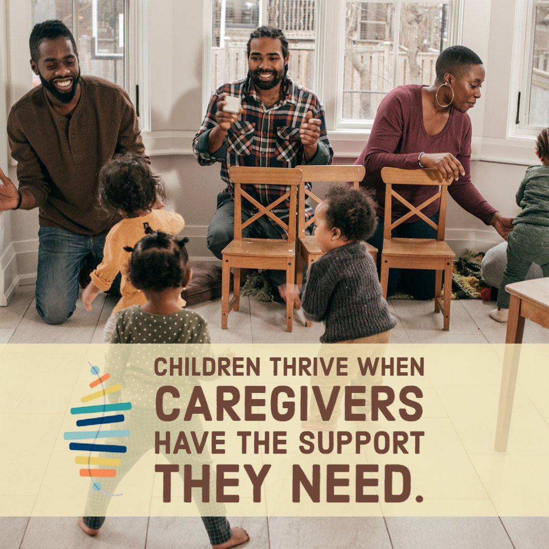 Children thrive when caregivers have the support they need. Let's prevent #neglect and #toxic stress in children by offloading the weight of caregiver stress.  #BSBTN