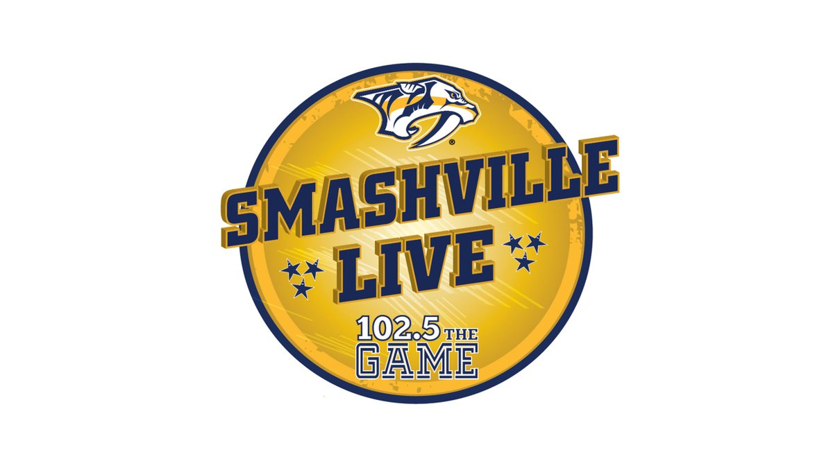 #Preds alumnus Tomas Vokoun joins @PeteWeberSports and @ChaseOnGame now on Smashville Live!   Listen or watch on @1025TheGame.