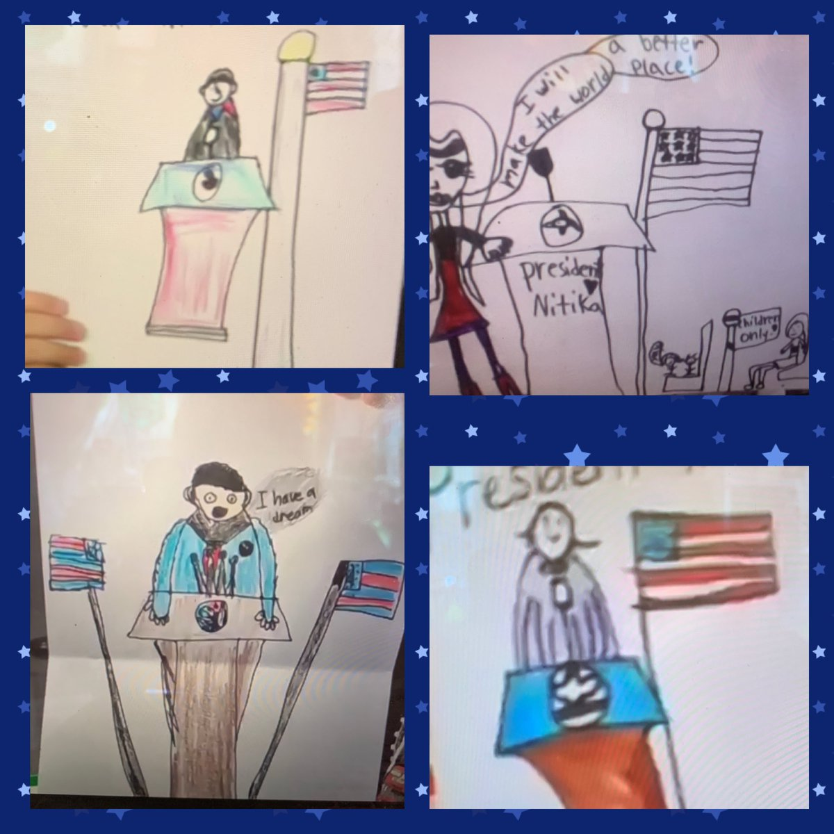 Asked my 2nd graders to see themselves as presidents one day. Their ideas and perspective are so incredible. They make me so hopeful for the future. @DrBiden @KamalaHarris @TheAmandaGorman @JoeBiden #InaugurationDay #kidheroes