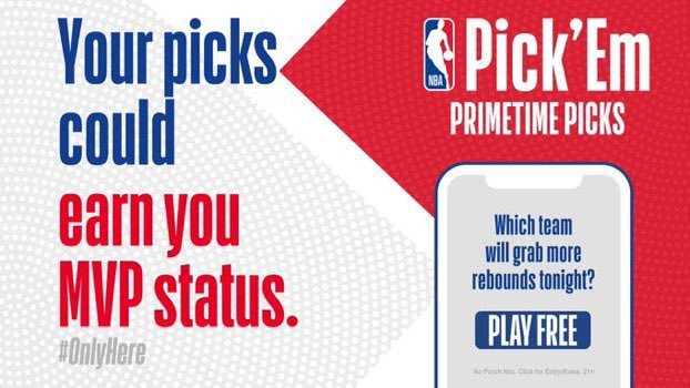 Which team will block more shots?   #BleedGreen or #HereTheyCome  Play NBA Pick 'Em: Primetime Picks presented by @FanDuel for a chance to win BIG!  ➡️ https://t.co/jDwdeKhz38 https://t.co/y16tz0HnNV