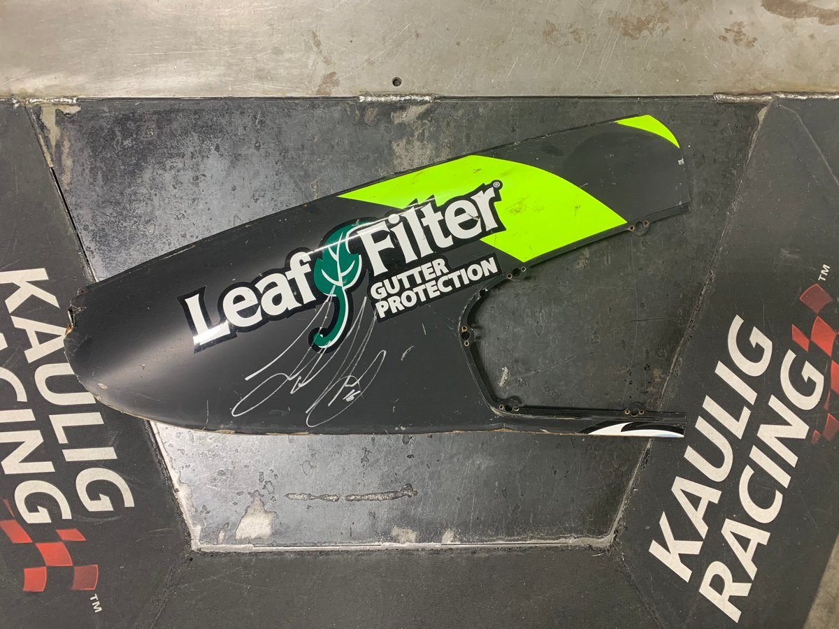 🚨GIVEAWAY!!🚨  Here's your shot to win a piece of our first ever @NASCAR Cup car!  To be entered to win this @Justin_Haley_ signed @LeafFilter C-post from our 2020 #Daytona500 Cup car, you must:  LIKE, RT, and REPLY with where we finished in the 2020 @DAYTONA 500.  Good luck! 😀