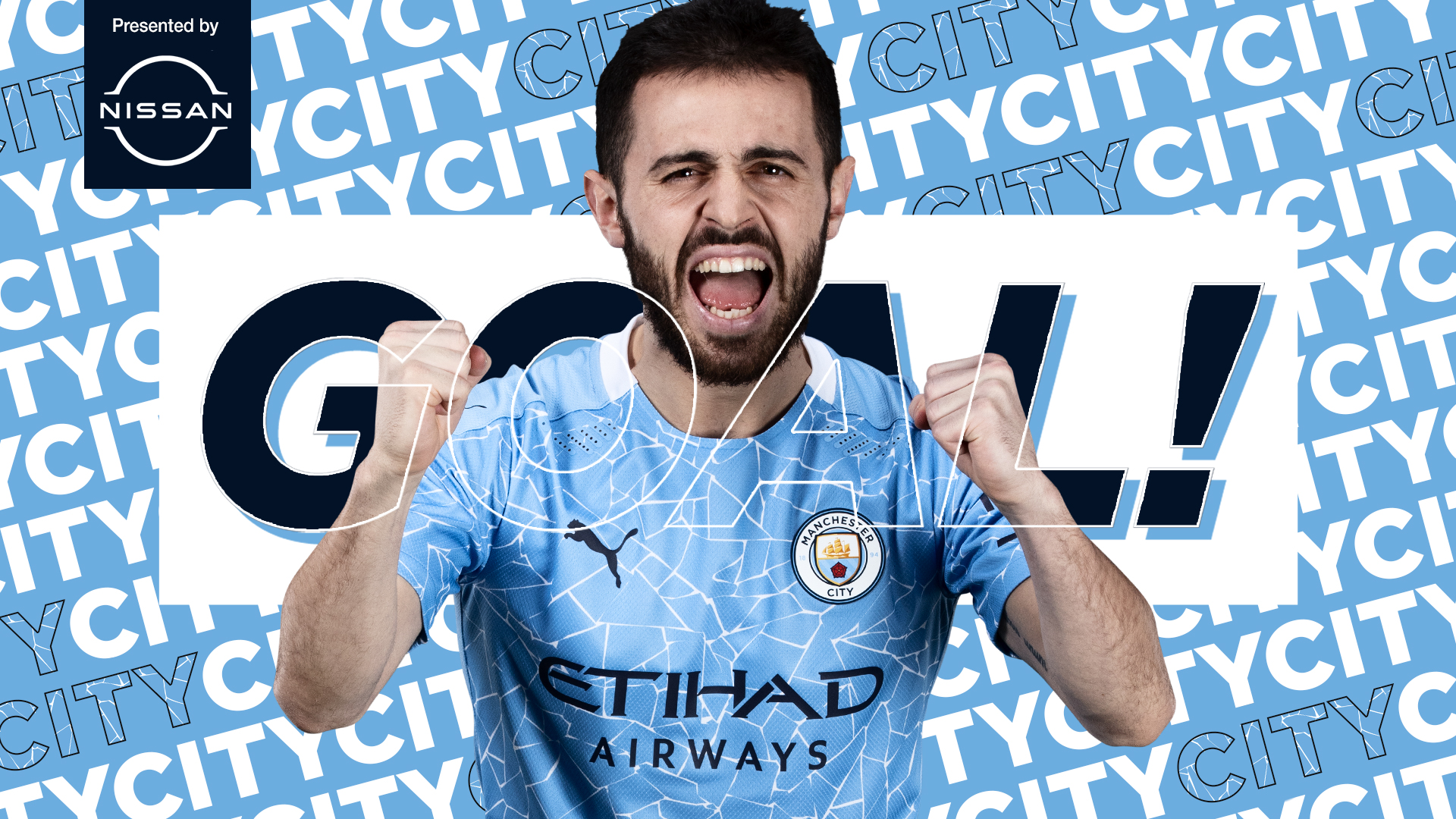"""Manchester City on Twitter: """"GOOOOAAAAALLLL!! @BernardoCSilva!! 🔷 1-0 🦁 #ManCity   https://t.co/axa0klD5re… """""""