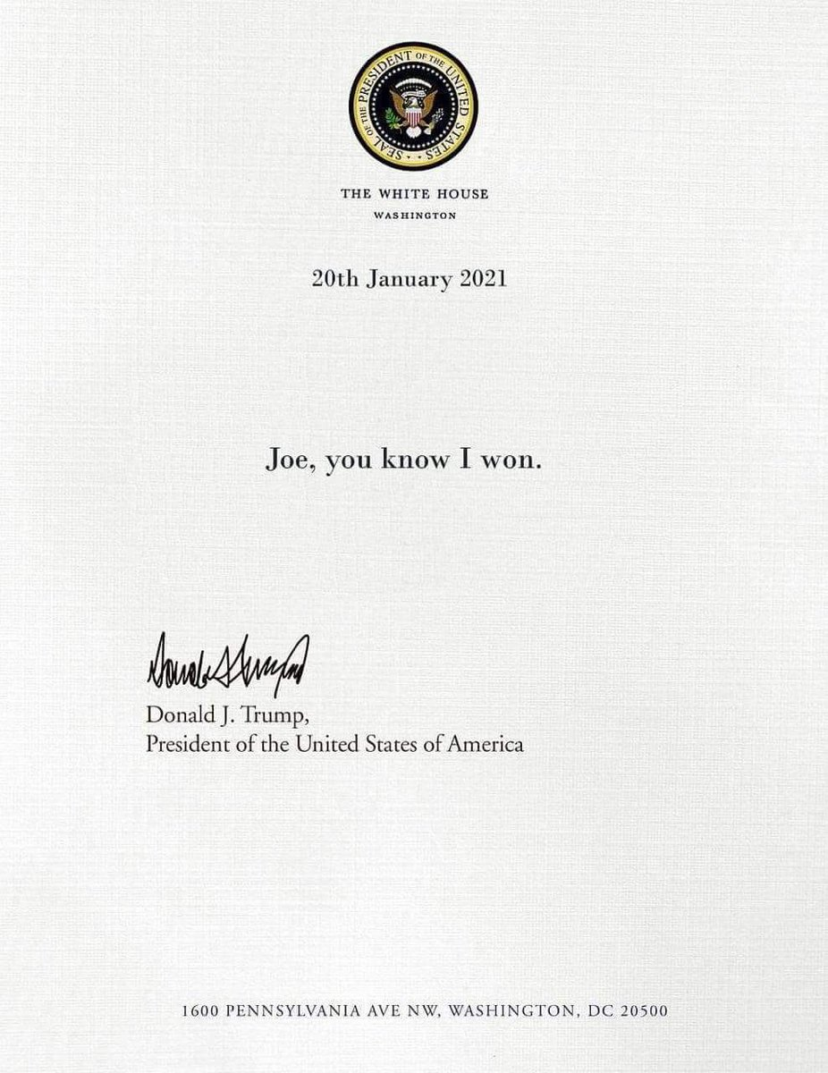 #TrumpsLastDay #Trump #BidenHarrisInauguration #Inauguration2021 #ImpeachedTwice #14thAmendmentSection3 #ImpeachTrump #1776Again #JusticeMatters #DonaldJTrump #2020Election #cockwomble #wankpuffin