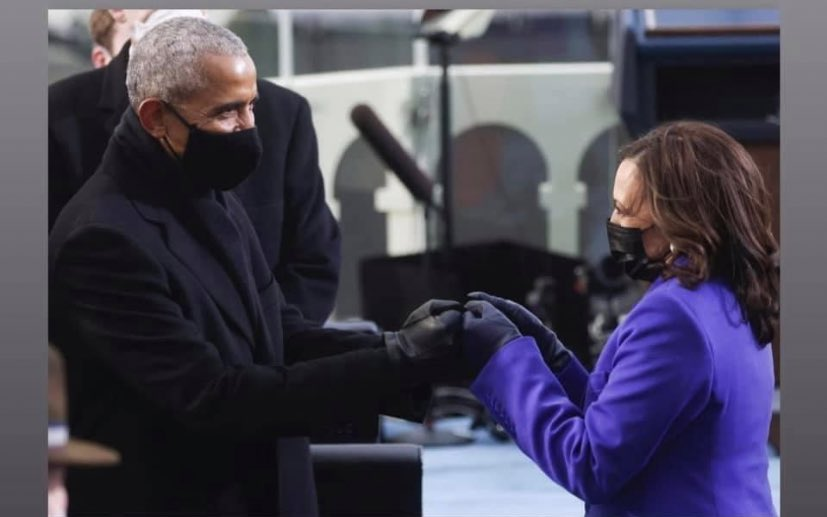 Barack Obama became the FIRST Black President of the United States. NOW Kamala Harris has been sworn in as the FIRST Black woman in American history to be sworn into office. #blackgirlmagic #inauguration2021 #kamalaharris #barackobama #michelleobama #madamvicepresident