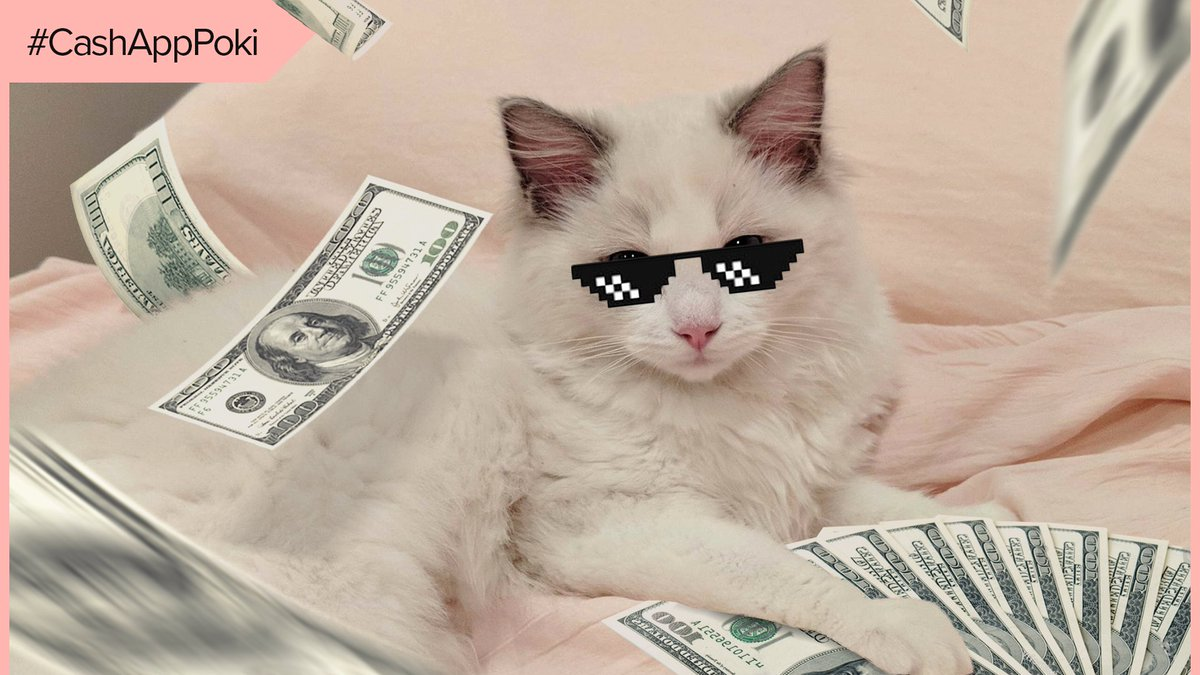 kicking off my @CashApp partnership with a 💰$25,000💰 giveaway for you and your pets :D  100 winners will be sent money on the 21st!   🐕 RT + fav  🐈 Reply with a drawing of your pet (or Mimi ^^) 💸 Include your $Cashtag & use #CashAppPoki  download & use code TWITCHTV for $10!