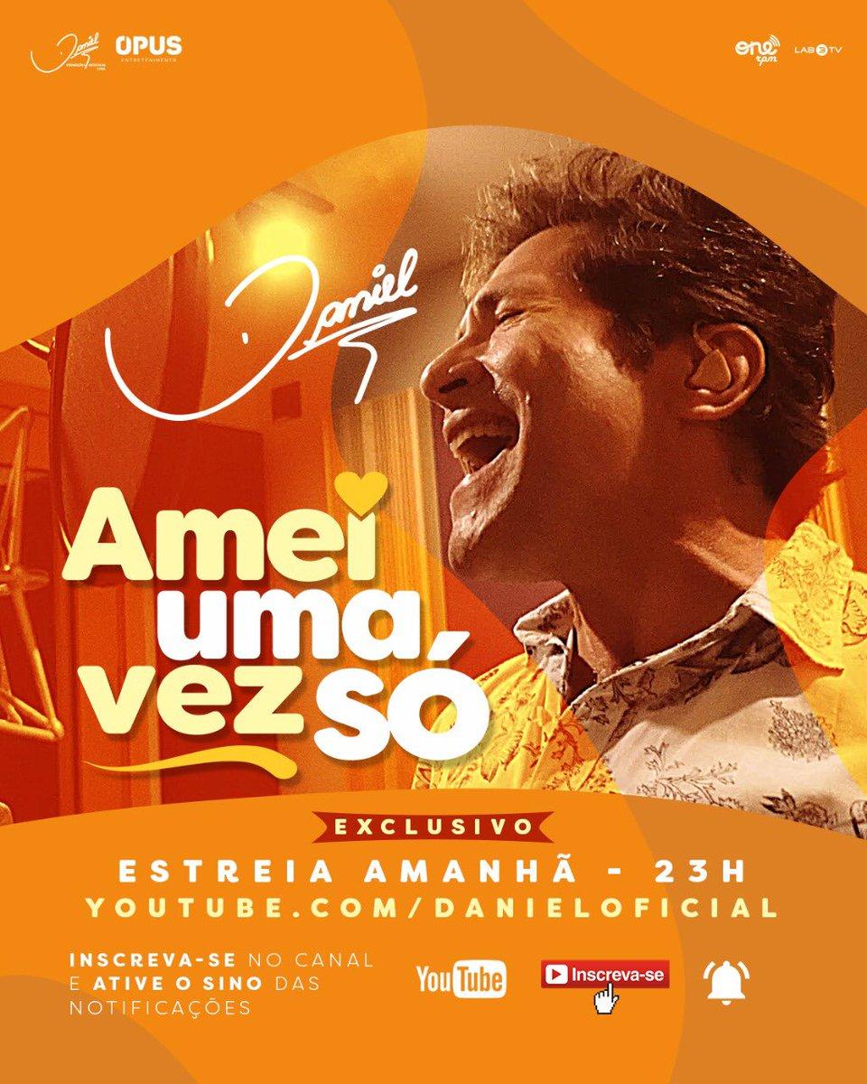 Faça agora o pre-save no seu APP preferido:    O clipe estreia no @YouTubeBrasil, amanhã (21), às 23h:  (ative o lembrete e se inscreva no canal).   Lançamento: @ONErpmbr  #AmeiUmaVezSó #ProduçãoDaniel