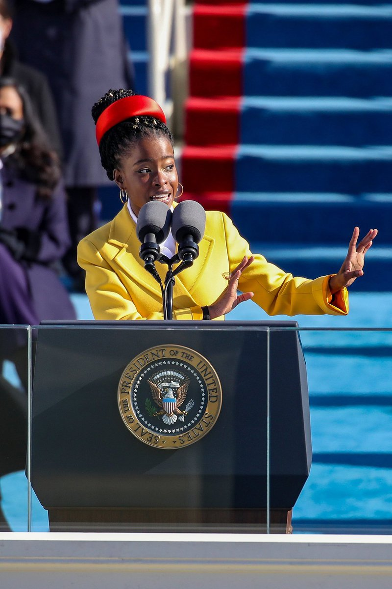Amanda Gorman just entered the record books as the youngest poet to perform at an inauguration at the age of 22. #InaugurationDay   #POTUS46 Donald Trump