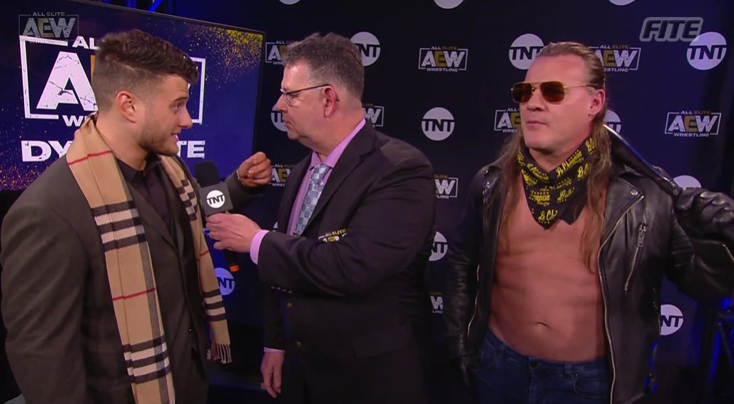 .@The_MJF and @IAmJericho give their take on tonight's #InnerCircle tag challenge.  Will these two be the next @AEW World Tag Team Champions?  #AEWDynamite is available on  in select Intl markets from #FITE