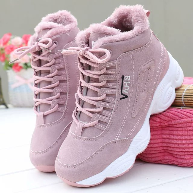 High Quality Women Winter Shoes Lace Up Warm Casual Women Tennis Sneaker Zapatos De Mujer Buty Damskie Brand #lgbtqforcorpse