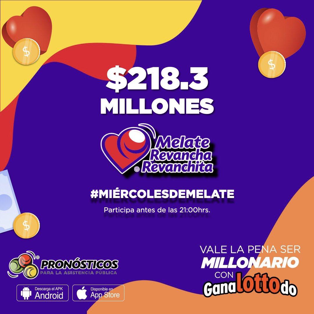 Hoy es el famoso MIÉRCOLES DE #MELATE ❤️🤑 Todos estos millones pueden ser tuyos $2️⃣1️⃣8️⃣,3️⃣0️⃣0️⃣,0️⃣0️⃣0️⃣ https://t.co/ji5ZfNeLYP https://t.co/9pt5zxl1Rh