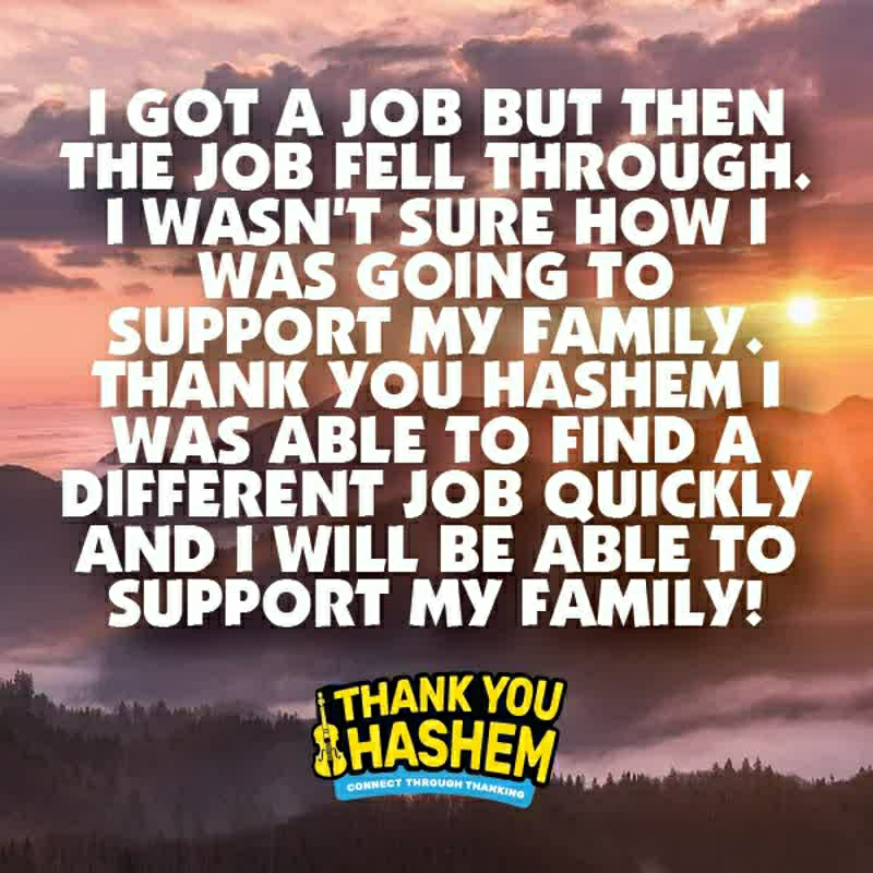 #thankyouhashem #work #job #business #career #employer #employee #payment #pay #paycheck #support #family #spouse #kids #child #children #thanks #thankyou #grateful #instagram #account #miracle #god #tyhashem #hashem #seemiracles #powerofthanking #amazingstory #trustinhashem #tyh