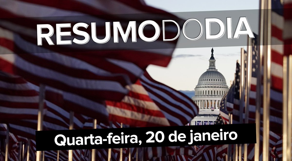 Biden presidente com Lady Gaga cantando o hino dos EUA na posse, Trump vai embora sem participar da cerimônia, a vacinação contra a Covid-19 em risco no Brasil por falta de doses e insumos, e a explosão em Madri; o que foi notícia hoje ==>  #G1 #ResumoDoDia