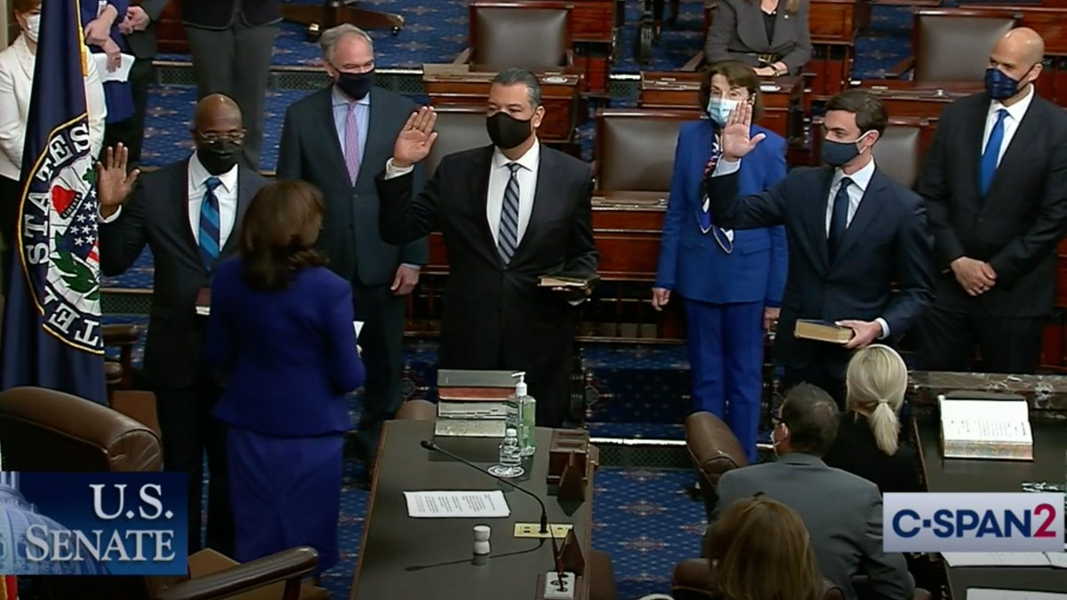 It was an honor to return to the Senate to swear in Senators Padilla, Warnock, and Ossoff. They are dedicated to lifting up all Americans—and I look forward to working with them.