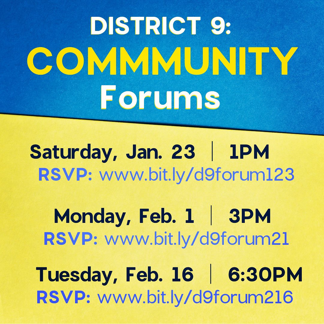 Council offices are ramping up their community forums for @CityofSanDiego's energy franchise agreements! We need new agreements that won't lock us down into long-term contracts with fossil fuel corporations.   Dates/times for CM @SeanEloRiveraD9 District 9 forums below: 1/3