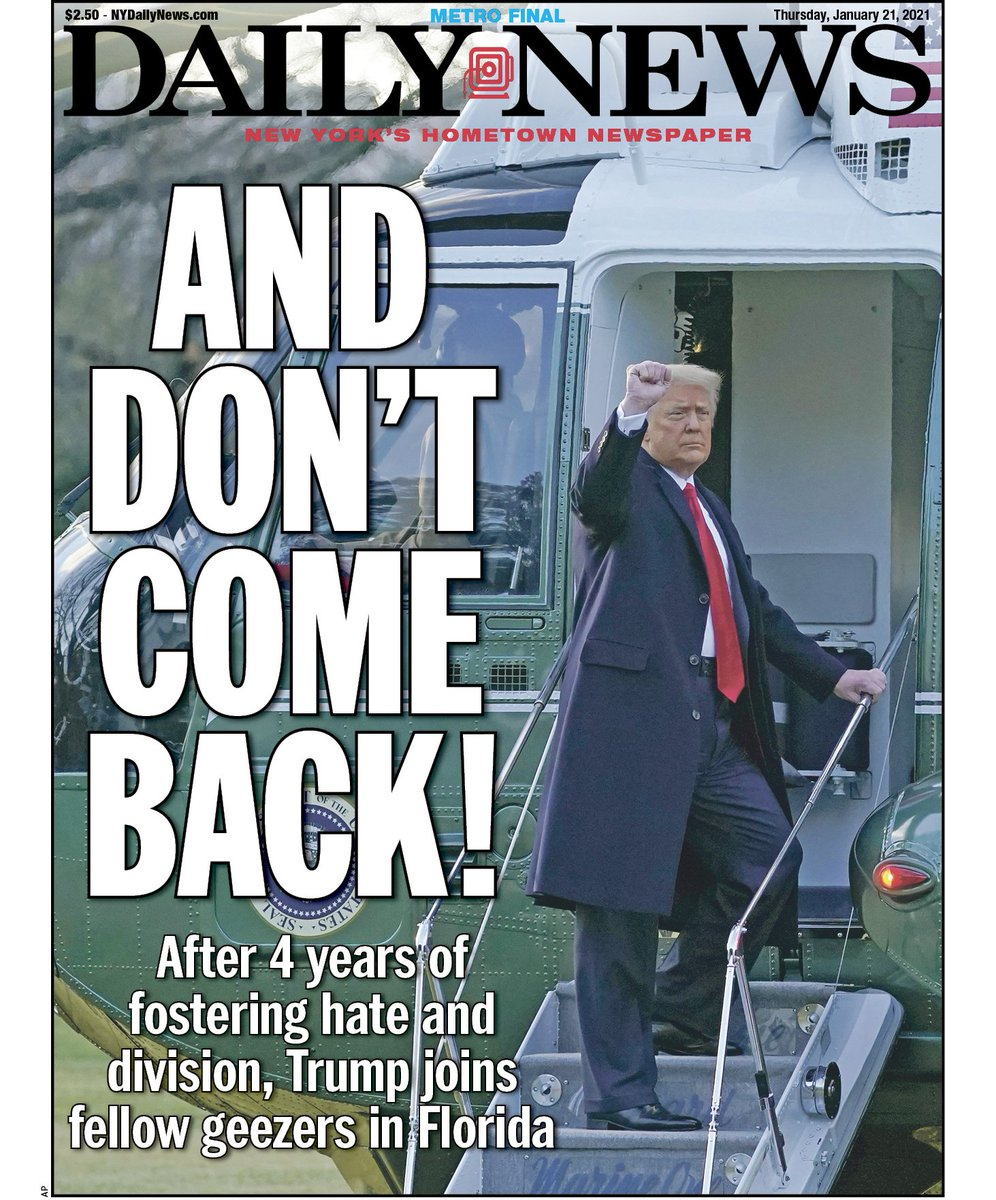 Trump departs White House
