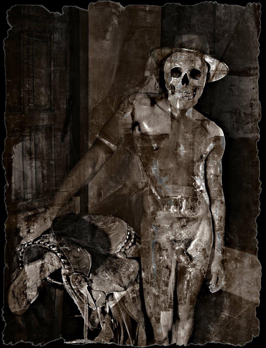 The Last Roundup (The Skull Dancers)   Grey Cross Studios #art #digitalart #contemporaryArt #skulls #skeletons #death #afterlife #surrealism #alternateuniverse #otherworlds #multiverse #parallelworld #scifi #fantasy #fantasyart