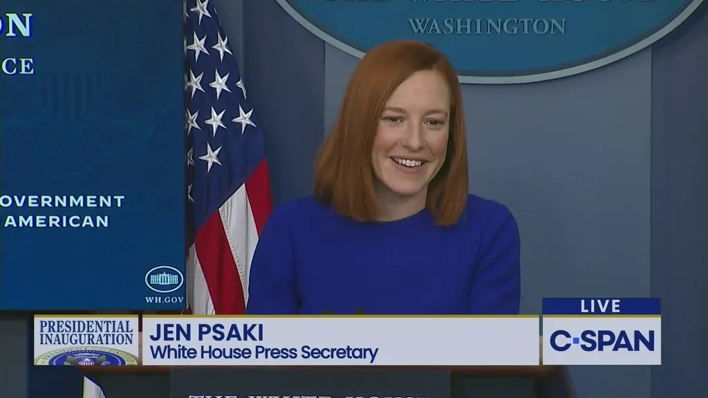 #JenPsaki is a refreshing change from not having honest talk during a #PressConference    #FreedomOfThePress is vital for the people to help keep the government open and honest. 👏🏻