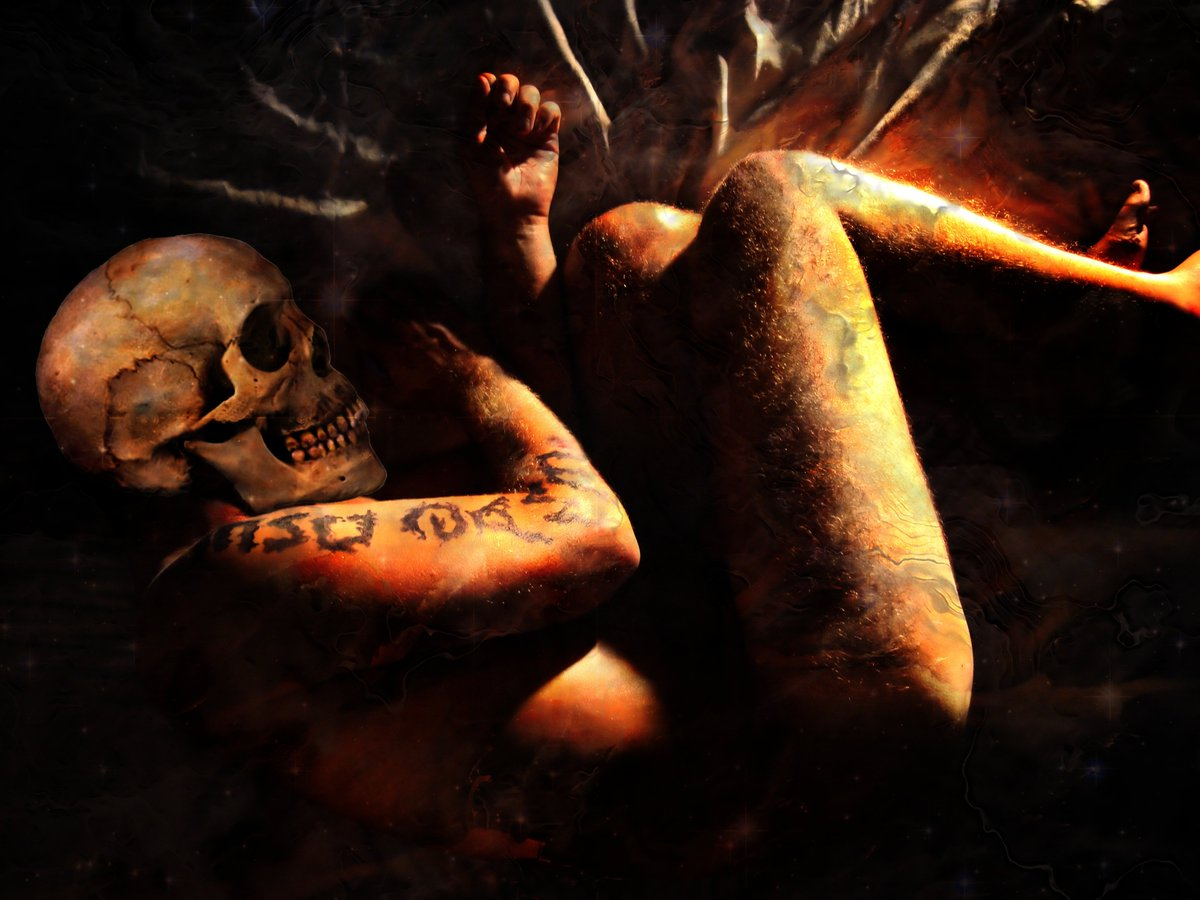 When Death Takes Us (The Skull Dancers)   Grey Cross Studios #art #digitalart #contemporaryArt #skulls #skeletons #death #afterlife #surrealism #alternateuniverse #otherworlds #multiverse #parallelworld #scifi #fantasy #fantasyart