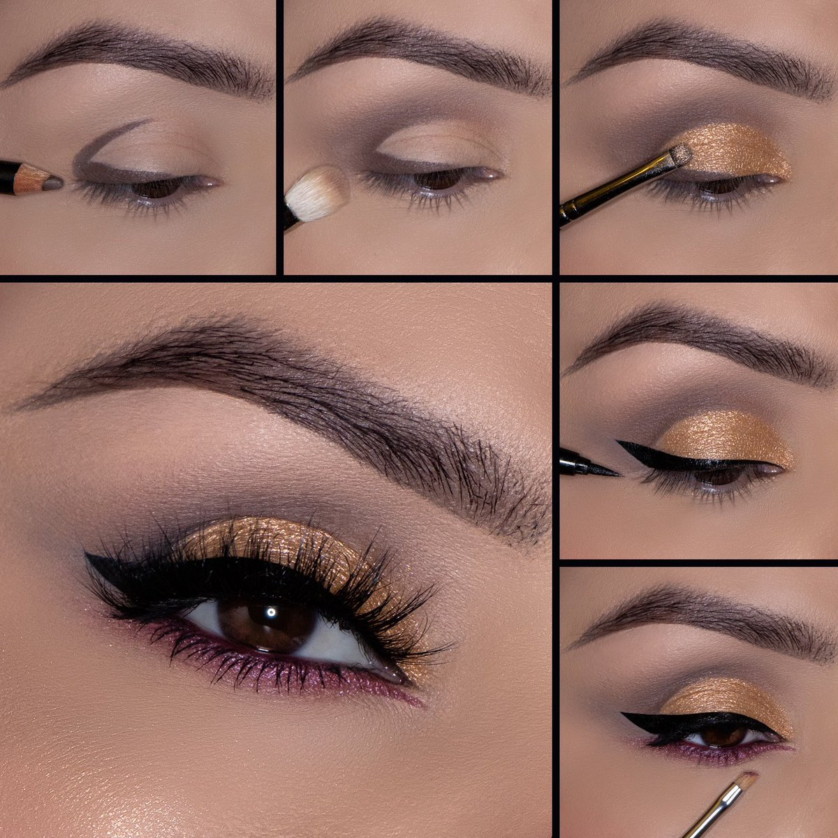You can create this gorgeous eye look using the @thalia X Motives BESOS Palette 🖤  Add this versatile, all-in-one palette to your collection today. 💋   Shop BESOS U.S.:  Shop BESOS Global:   #Thalia #MotivesCosmetics