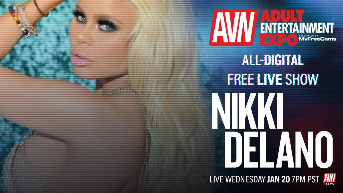 Going live for the all-digital #AVNShow today at 7:00 p.m. @NikkiDelano Tune in here: stars.avn.com/nikkidelano