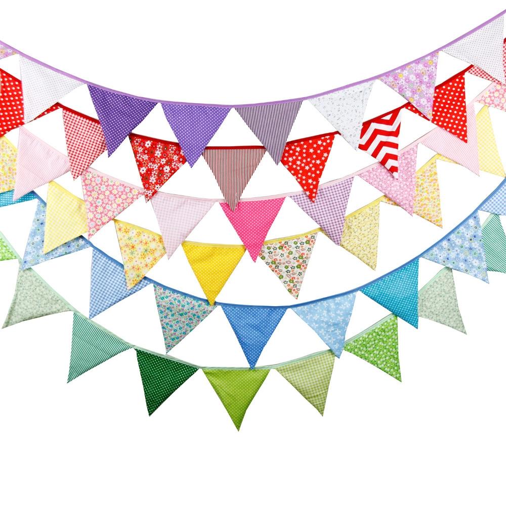 #wedding #weddingideas Colorful Cotton Flags Party Banner
