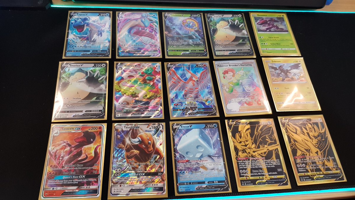 My pulls from last night's stream  Snorlax heaven -a real photo opportunity ❤️  #TradingCards #pokemon #PokemonTCG #unboxing #Pokemon25