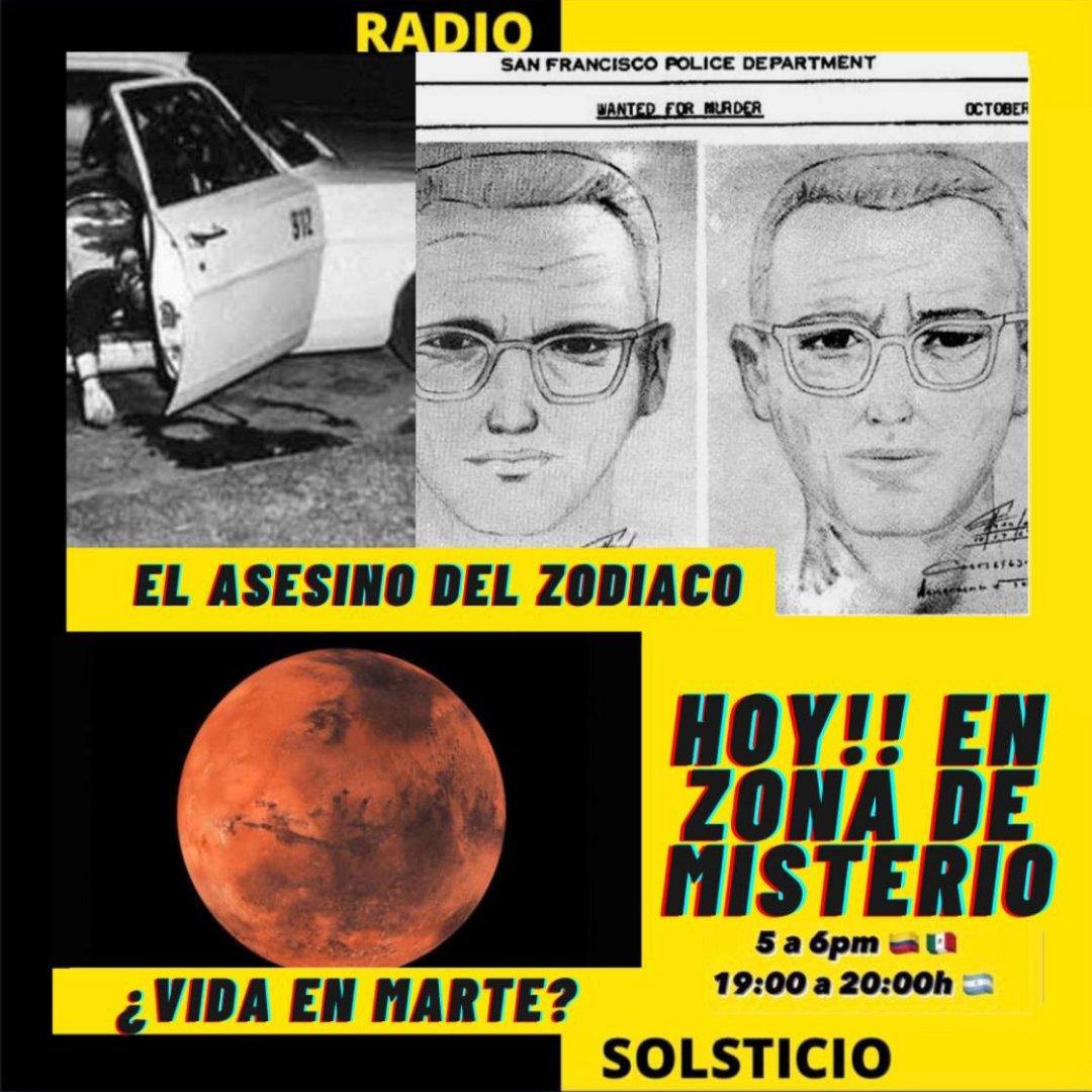 Hoy en #ZonaDeMisterio hablaremos sobre #ElAsesinoDelZodiaco además de otros temas #Misteriosos _ _ _ Escúchanos 👇👇 https://t.co/UUKUh0XKdb  #Radiojuvenil #RadioOnline #Vivo #Argentina #Historias #Misterio https://t.co/PYNGJEf2KQ