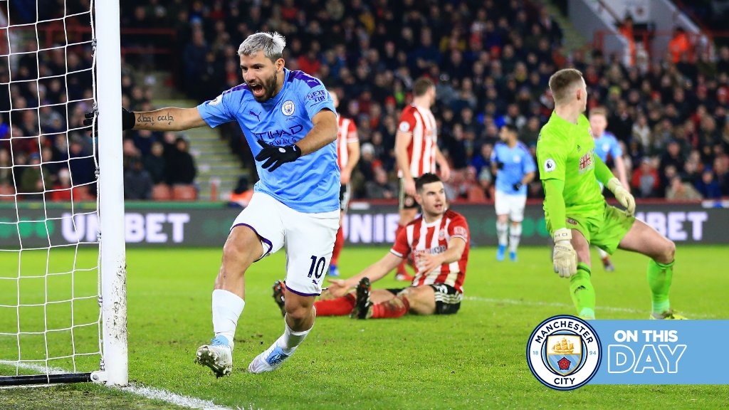 A year ago today, Aguero bailed us out against the Blades! ⚔️😅  📅 #OnThisDay 🔷 #ManCity |