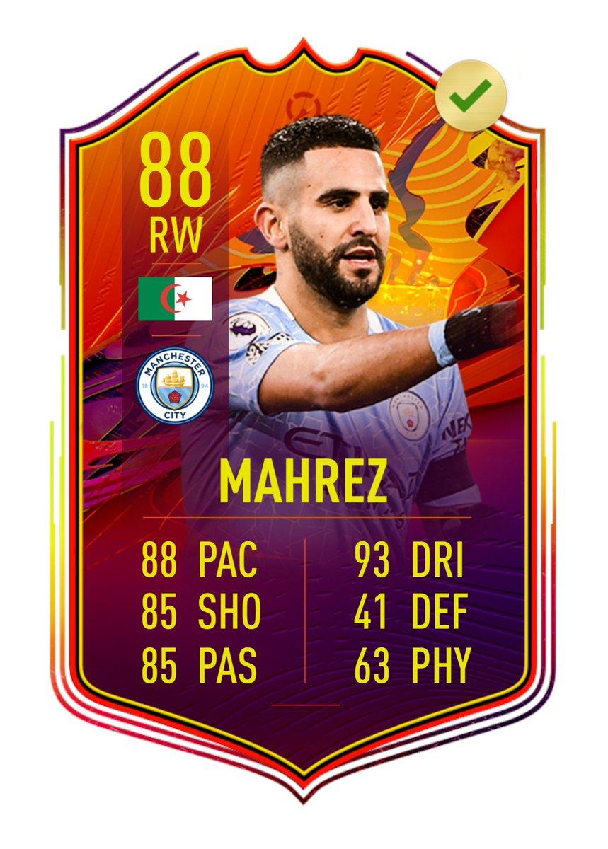 ✅3-1 vs Chelsea ✅1-0 vs Brighton ✅4-0 vs Crystal Palace ✅2-0 vs Aston Villa  🇩🇿Riyad Mahrez es el primer #Headliner de #FUT que consigue la actualización por la racha de 4 victorias de su equipo, el Manchester City.  ⚠️Será actualizado a 88 el próximo miércoles. https://t.co/wmc4wjYnHT