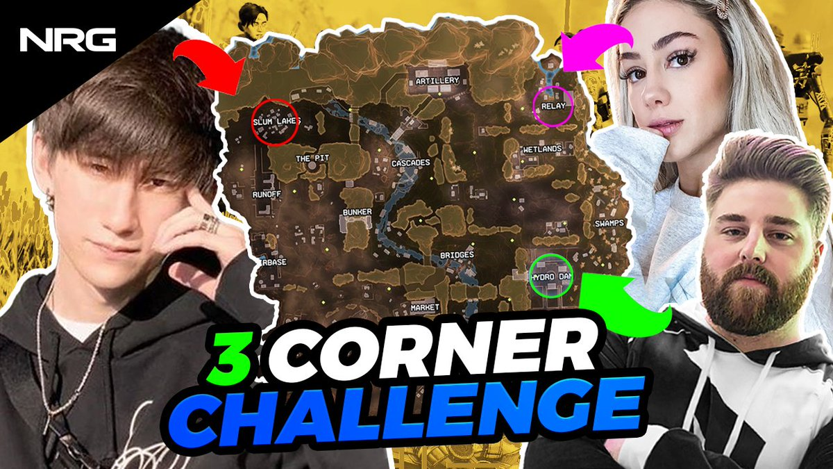 we had @acesu, @LuluLuvely & @TTrebb hop into a lobby and attempt the 3 corner challenge... 👀  full vid: