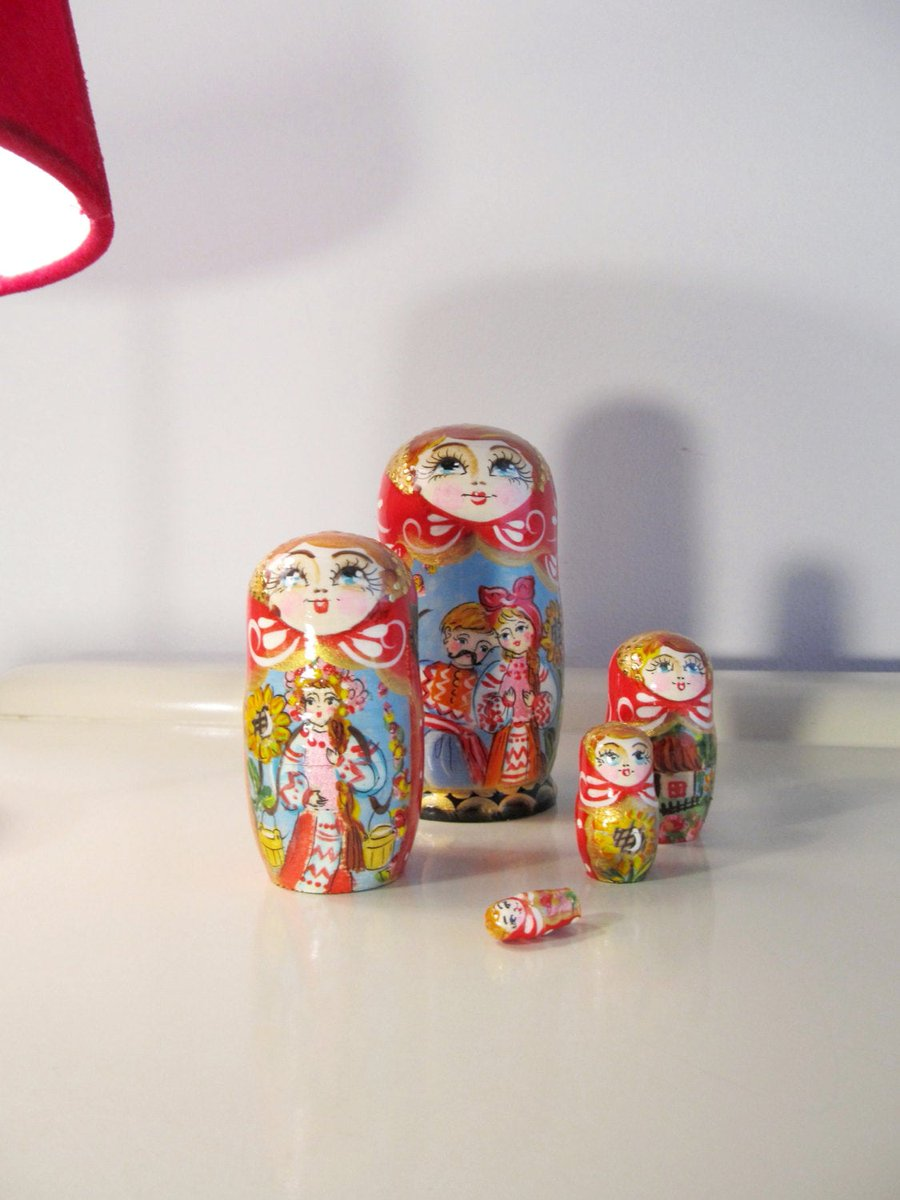 Matryoshka Dolls from Ukrania  #FREESHIPPING #CYBERSALE #Christmas #covid-19 #BlackFriday #Retro #Wedding #Vintage #MyNewTag #VintageMatryoshka