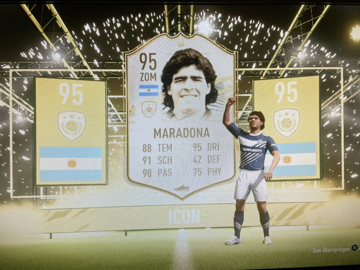 It is a pleasure to welcome you in my Team #DiegoMaradona 🇦🇷 #iconsbc