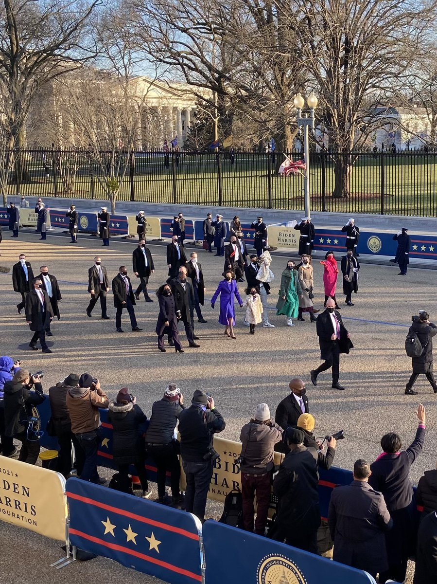 """Replying to @PeterAlexander: """"How's it feel, Madam Vice President?""""  @VP: """"Just walking to work!"""""""