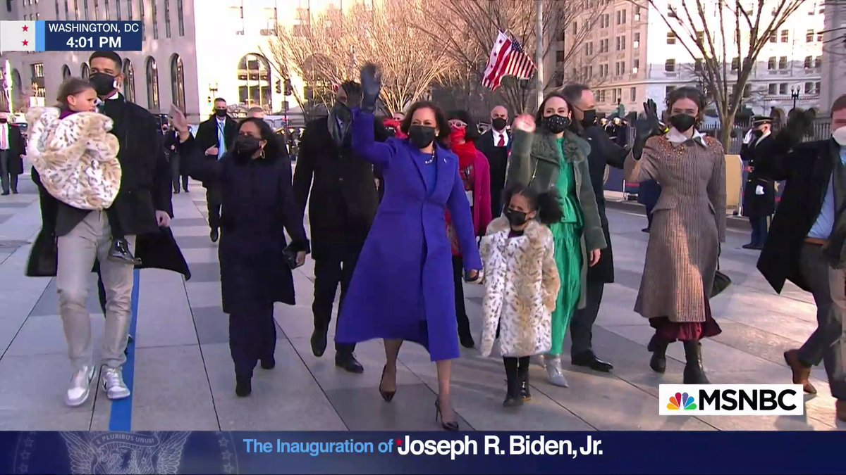 WATCH: Howard University's Showtime Marching Band escorts Vice President Harris to the White House for her first time as the 49th vice president of the United States.