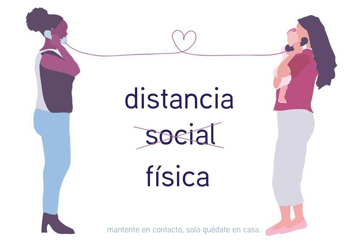 La distancia física no tiene que suponer aislamiento social o emocional.  Mantente en contacto con tus seres queridos. Estamos juntos en esto y lo superaremos juntos.   🧑🎨: Karina Muranaga