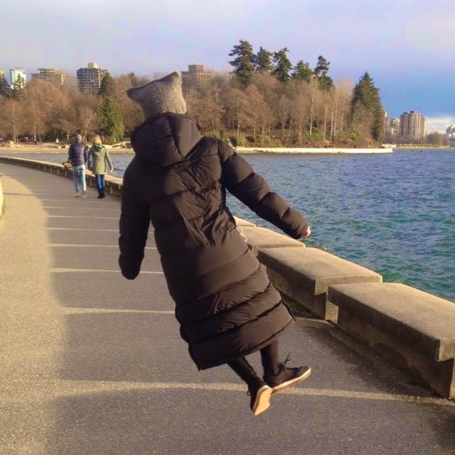 #Tbt to Jan 20 2019: Jumping for joy in Vancouver when I just started @TheTerrorAMC   Jan 20 2021: Jumping for joy again - albeit this time in spirit  only (backache) & in lockdown London - not just for the new 🎥 job that's come, but for the new President & Vice President! 👏🎊
