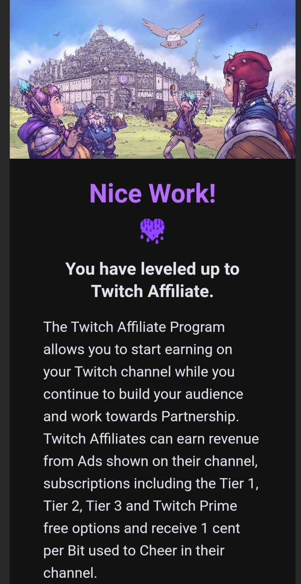 Thank you guys so muuuch 🥺🥰😭 I'm a Twitch Affiliate ☺👍🎉 Had an intense stream of 7 hours today!! Had a lot of fun☺!!   #twitchgirls #TwitchStreamers #twitchaffiliate #smallstreamer #Thankful #happy #gamergirl