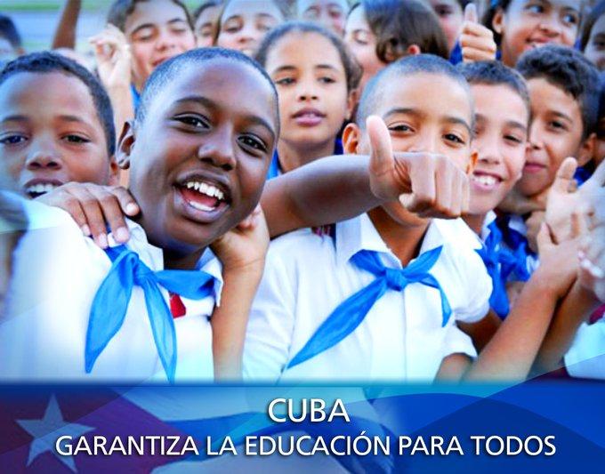 En #Cuba la educación alcanza cobertura universal y es gratuita en todos los niveles de enseñanza. | #DDHH
