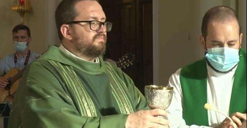 Rubén, sacerdote víctima de la explosión