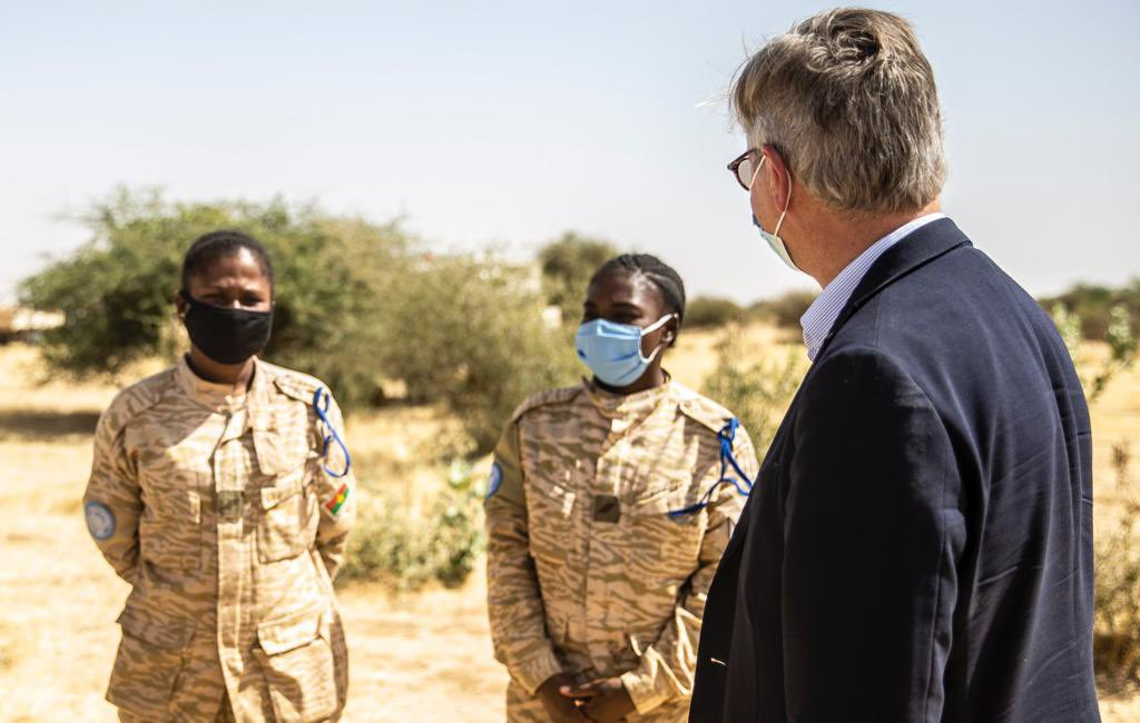 In Timbuktu, Mali, and at our temporary operational base in Niafunke. @UN_MINUSMA alongside civil and military authorities to support the return of state authority through Operation Winner. #A4P