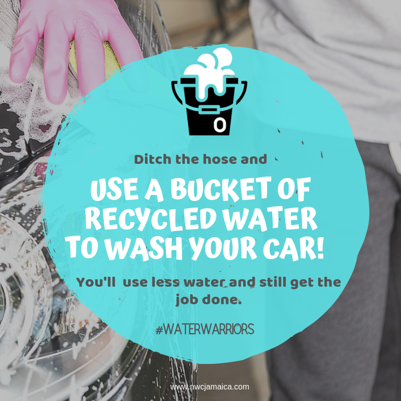 #waterwarriors Ditch the hose and use a bucket of recycled water to wash your car! You'll use less water, and still get the job done. We continue to urge our customers to #conserve as #everydrop counts!