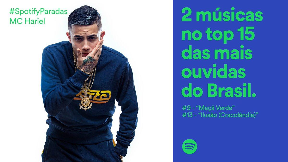 O @oficialharielmc é o funkeiro mais bombado do momento - já que é o único representante do gênero a ter mais de uma música no Top 50 Brasil hoje. Ouça seus sucessos na playlist THIS IS MC HARIEL: