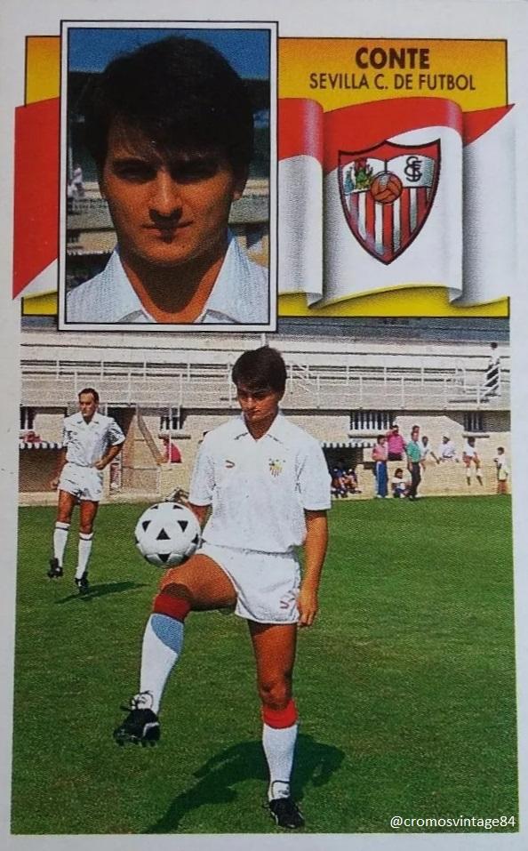 #CromoVintage Ignacio Conte Crespo temporada 1990-1991 de Ediciones Este @SevillaFC @fpsevillistas @AHistoriaSFC #SevillaFC | #VamosMiSevilla | #WeareSevilla | #NuncaTeRindas RT