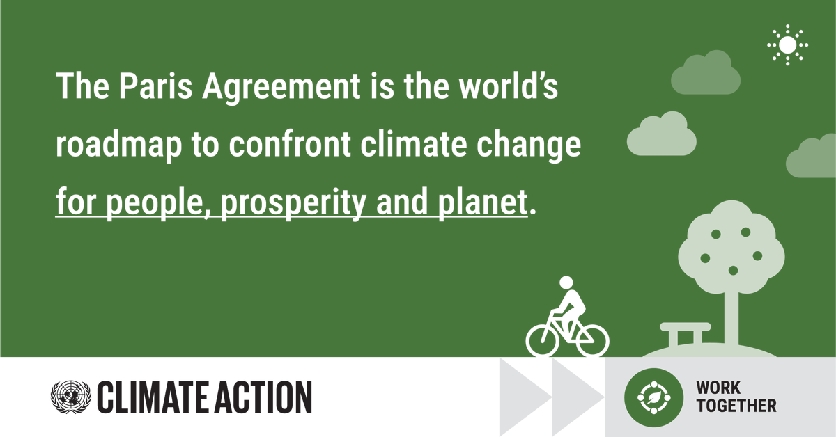 The #ParisAgreement is an international treaty which aims to address the climate emergency and to help strengthen resilience.  As we work towards recovery from #COVID19, we must build back greener for our planet & our future.