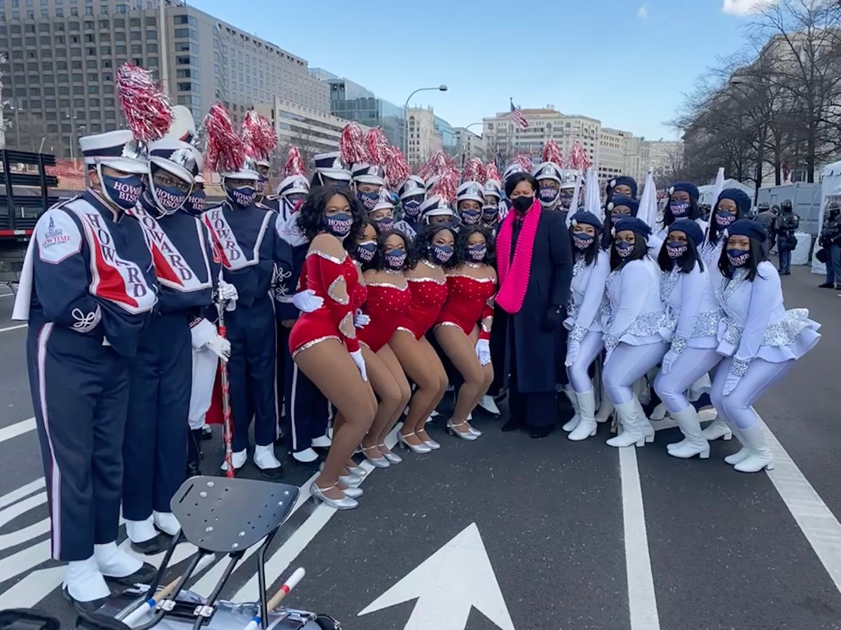 Showtime Marching Band with DC @MayorBowser on #Inaugurationday! #HU2WH