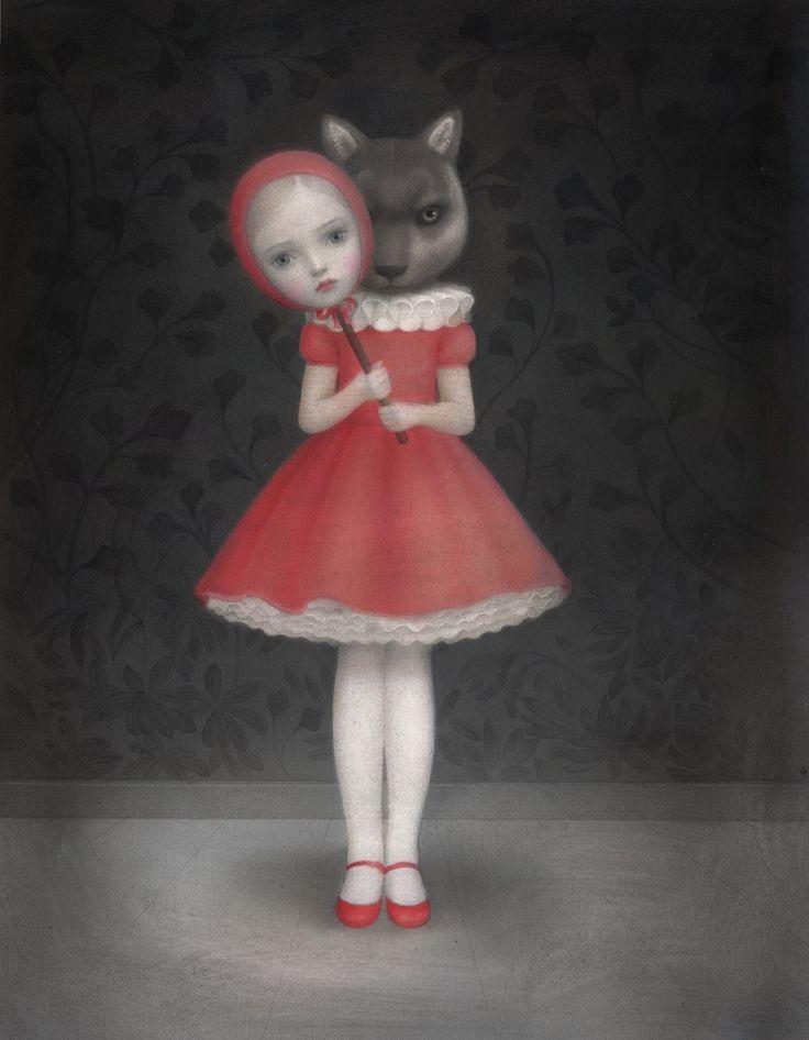 @nywolforg 😥  Le Petit Chaperon Rouge est bien triste.  #SaveRedWolves ❤